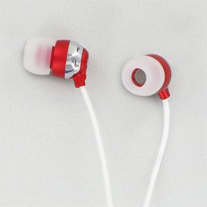 Scosche HP6R thudBuds Noise Isolation Earbuds (Red)