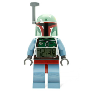 "LEGO Kids' Star Wars Boba Fett  9.5"" Minifigure Alarm Clock"