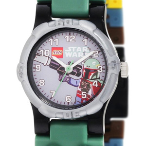 LEGO Kids' Star Wars Boba Fett Minifigure Link Watch