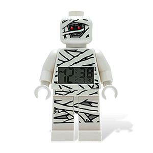 LEGO Kids' Monster Fighters Mummy 9.5&quot; Minifigure Alarm Clock