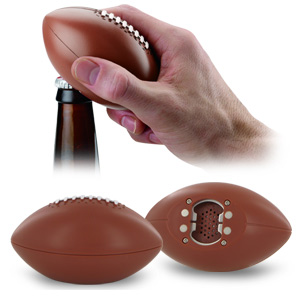 Sports Lover's Talking Football Bottle Opener