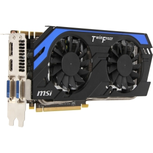 MSI N660TI-2GD5/OC GeForce GTX 660 Ti Graphic Card - 941 MHz Core - 2 GB GDDR5 SDRAM - PCI Express 3.0 x16 - 6008 MHz Memory Clock - 2560 x 1600 - SLI - Fan Cooler - DirectX 11.0, OpenGL 4.2, DirectCompute, OpenCL - HDMI - DisplayPort - DVI