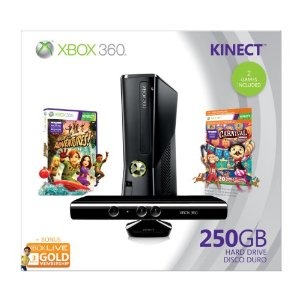Xbox 360 250GB Holiday Value Bundle with Kinect