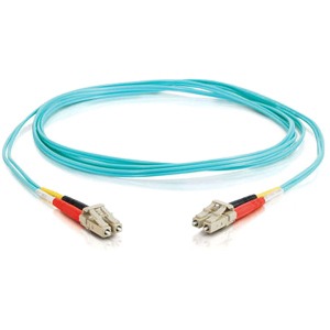 C2G Fiber Optic Duplex Patch Cable - LC Male - LC Male - 6.56ft - Aqua