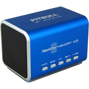 RockDoc 2.0 Speaker System - 6 W RMS - Blue - 50 Hz - 18 kHz - USB