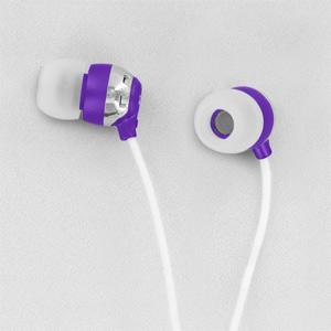 Scosche HP6PU thudBuds Noise Isolation Earbuds (Purple)