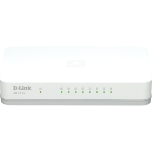 D-Link 8-Port Unmanaged Gigabit Switch - 8 Ports - 8 x RJ-45 - 10/100/1000Base-T - Desktop