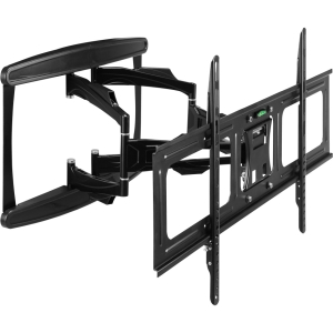 Telehook TH-3070-UFL Scissor Wall Full Motion Low Profile Black - For Flat Panel Display - Aluminum, Steel - Black