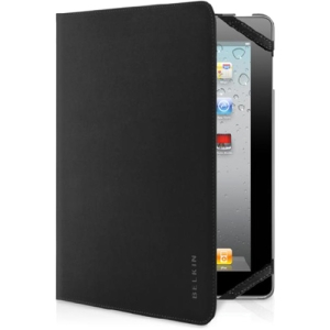 Belkin Smooth Bi-Fold Carrying Case (Folio) for iPad - Black