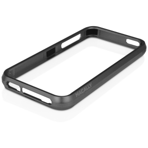 Macally Aluminum Frame Case (Black Color) - iPhone - Black - Aluminum