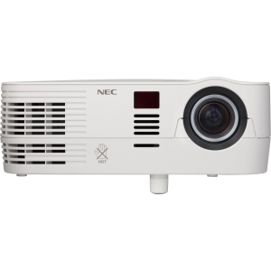 NEC NP-VE281 3D Ready DLP Projector - 576p - SDTV - 4:3 - F/2.41 - 2.55 - NTSC, PAL, SECAM - 800 x 600 - SVGA - 3,000:1 - 2800 lm - VGA In - 261 W - 2 Year Warranty