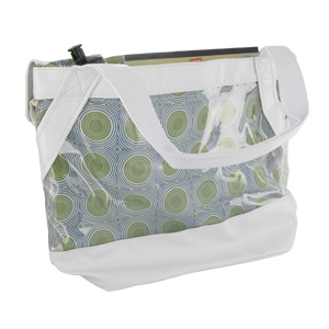 Aquarium Style  2 in 1 Clear Designer Tote Bag With Beautiful Spiral Design