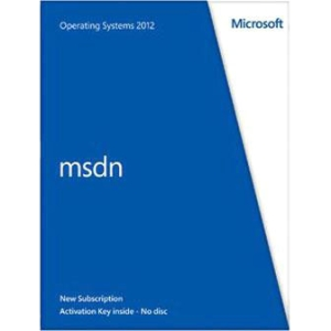 Microsoft MSDN Operating Systems 2012 - Subscription Package - 1 User - Standard - 1 Year - PC - Retail - English