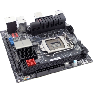 EVGA Z77 Stinger Desktop Motherboard - Intel Z77 Express Chipset - Socket H2 LGA-1155 - Mini ITX - 1 x Processor Support - 16 GB DDR3 SDRAM Maximum RAM - Serial ATA/300, Serial ATA/600 RAID Supported Controller - CPU Dependent Video - 1 x PCIe x16 Slot -