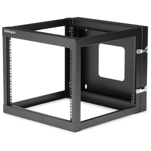 "StarTech.com 8U 22in Depth Hinged Open Frame Wall Mount Server Rack - 19"" 8U Wall Mounted"