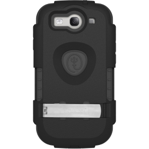Trident Carrying Case (Holster) for Smartphone - Black - Shock Absorbing - Polycarbonate, Plastic
