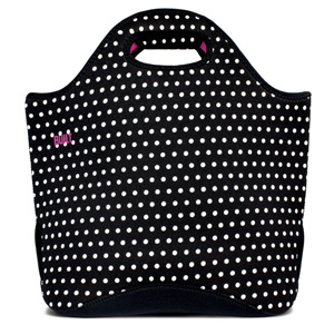 Built NY Neoprene Everyday Tote - Black & White Mini Dot
