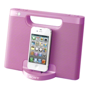 Sony RDP-M7IPPINK 2.0 Speaker System - 4 W RMS - Pink - 150 Hz - 10 kHz - iPod Supported