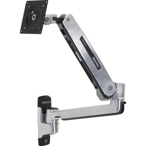 "Ergotron Mounting Arm for Flat Panel Display - 42"" Screen Support - 25.00 lb Load Capacity - Polished Aluminum"