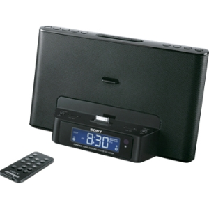 Sony ICF-CS15IPBLK Desktop Clock Radio - 3.5 W RMS - Stereo - Apple Dock Interface - Proprietary Interface - 2 x Alarm - FM, AM - iPod Dock, iPhone Dock - Manual Snooze