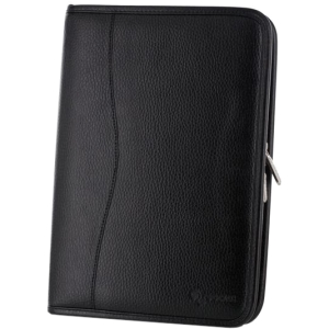 rooCASE Executive Portfolio Case Cover for Amazon Kindle Fire HD 8.9 - Black - Cowhide Leather