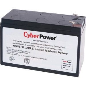 CyberPower RB1270 UPS Replacement Battery Cartridge - 7Ah - 12V DC - Maintenance-free Sealed Lead Acid