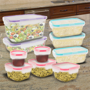 Snapware 20 Piece Airtight Plastic Food Storage Set