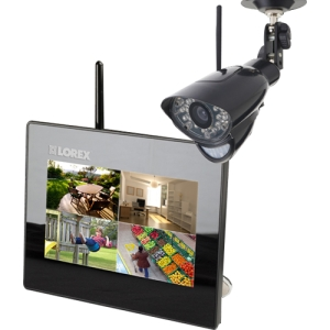"Lorex LIVE Wireless Video Monitoring System - 1 x Camera, Monitor, Digital Video Recorder - 7"" LCD"