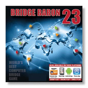 BRIDGE BARON 23 LEARN/PLAY BEST TWO PROGRAMS ON THE MARKET TODAY