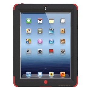 Trident Kraken AMS Carrying Case (Holster) for iPad - Red - Polycarbonate, Silicone