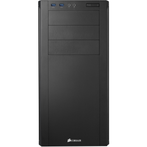 Corsair Carbide 200R System Cabinet - Mid-tower - Black - Steel, Acrylonitrile Butadiene Styrene (ABS) - 11 x Bay - 2 x Fan