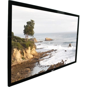 "Elite Screens SableFrame ER135DH2 Projection Screen - Fixed Frame - 66"" x 117"" - Airbright 3D2 - 135"" Diagonal - 16:9 - Wall Mount"
