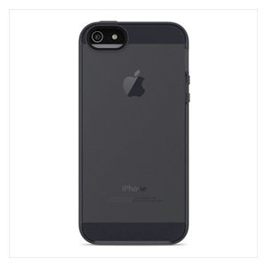 Belkin Grip Candy Sheer Case for iPhone 5 - iPhone - Blacktop, Gravel - Tint, Translucent - Thermoplastic Polyurethane (TPU)
