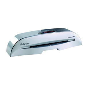 "Fellowes Saturn 95 Cold/Hot Laminator - 3-mil or 5-mil Pouches, 9.5"" Entry"