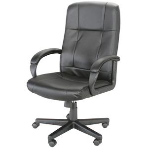 Rosewill High Back Leather Executive Chair – Black (RFFC-11001)