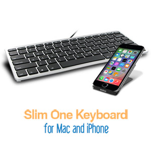Matias Slim One Keyboard for iPhone and Mac - FK311MIN