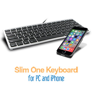 Matias Slim One Keyboard for iPhone and PC - FK311PIN