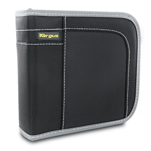 Targus CityGear 40 Capacity CD/DVD Wallet Case TDP015US (Black with Gray Contrasting)