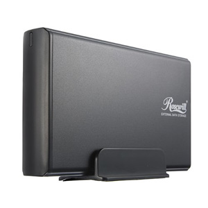 "Rosewill RX35-AT-SU3 BLK Full Aluminum Cover 3.5"" USB 3.0 External Enclosure - Black"