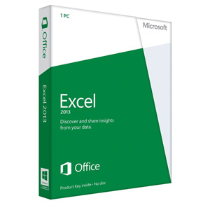 Microsoft Excel 2013 32/64-bit - License for Non-Commercial Use on 1 PC (Product Key Card)