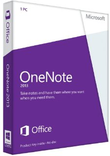 Microsoft OneNote 2013 32/64-bit - Standard Retail License for 1 PC (Key Card)