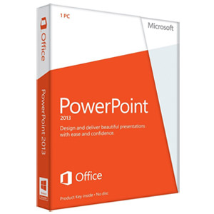 Microsoft PowerPoint 2013 32/64-bit - Standard Retail License for 1 PC (Key Card)