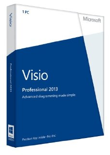 Visio Pro 2013 32-Bit/64-Bit  Product Key Card for 1 PC