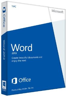 Microsoft Word 2013 32/64-bit - Standard Retail License for 1 PC (Product Key Card)