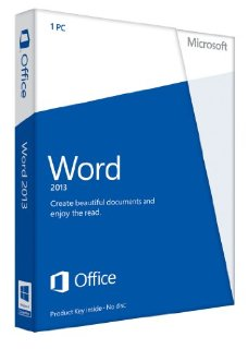 Microsoft Word 2013 32/64-bit - Non-Commercial License for 1 PC (Product Key Card)