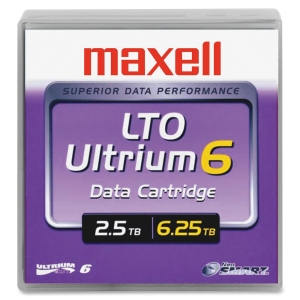 Maxell LTO Ultrium 6 Data Cartridge - LTO Ultrium - 2.50 TB (Native) / 6.25 TB (Compressed)