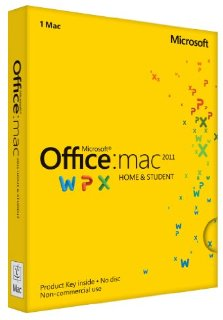 Office for Mac Home and Student 2011 - for 1 User/1 Mac (Product Key Card)