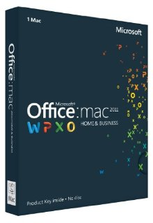 Microsoft Office for Mac Home and Business 2011 - for 1 User/1 Mac (Product Key Card)