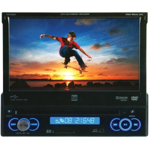 "Dual XDVD3101 Car DVD Player - 7"" Touchscreen LCD - 240 W RMS - Single DIN - DVD Video - AM, FM - Secure Digital (SD) - Auxiliary InputiPod/iPhone Compatible"