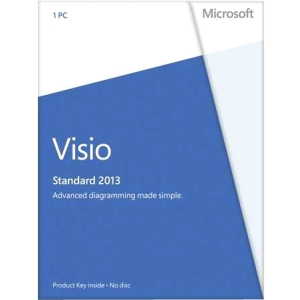 Microsoft Visio 2013 Standard 32/64-bit - License - 1 PC - Standard - PC - English